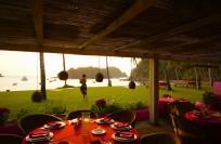 Playa Rosa Restaurant on beach below Jazmin. The pulse of Careyes' beach life....
