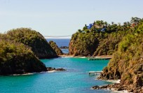 Playa Blanca and Casa Mi Ojo with hanging bridge to private island. View from Jazmin