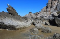 Rock formations at Arroyo Seco Beach