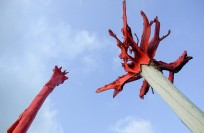 Tree sculpture by Gian Franco Brignone at Tigre del Mar